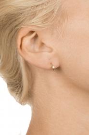 Betty Bogaers | 14k verguld gouden oorbellen Ring Star | goud  | Afbeelding 3