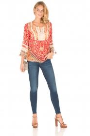 Hale Bob | Zijden blouse Barbra | rood  | Afbeelding 3