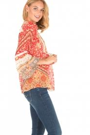 Hale Bob | Zijden blouse Barbra | rood  | Afbeelding 4