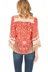 Hale Bob | Zijden blouse Barbra | rood  | Afbeelding 5