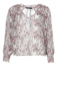 Magali Pascal |  Top with print Kali | pink  | Picture 1