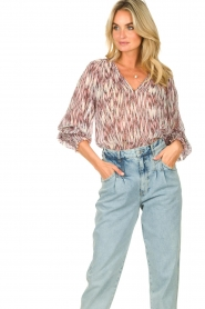 Magali Pascal |  Top with print Kali | pink  | Picture 2