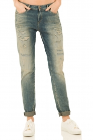 Boyfriend jeans Point inseam 34 | blue