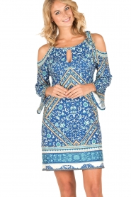 Hale Bob | Off-shoulder jurk Mari | blauw  | Afbeelding 2