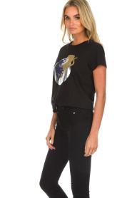 Munthe    Printed T-shirt Nostalgic   black    Picture 5