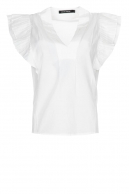 Magali Pascal |  Top with ruffles Sumba | white  | Picture 1