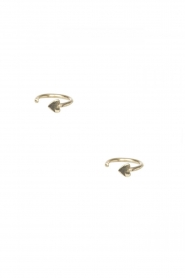 Betty Bogaers | 14k verguld gouden oorbellen Ring Heart | goud