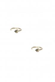 Betty Bogaers | 14k verguld gouden oorbellen Ring Heart | goud  | Afbeelding 2