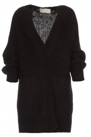 Munthe |  Long knitted cardigan Nadeen | black  | Picture 1