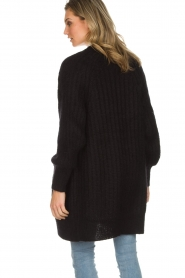 Munthe |  Long knitted cardigan Nadeen | black  | Picture 6