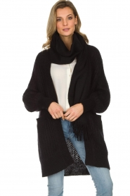 Munthe |  Long knitted cardigan Nadeen | black  | Picture 2