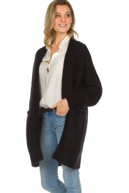 Munthe |  Long knitted cardigan Nadeen | black  | Picture 5