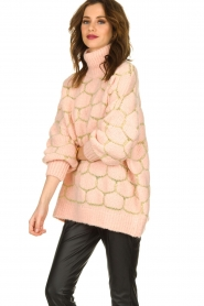 Rabens Saloner |  Oversized  sweater Cora | pink  | Picture 4