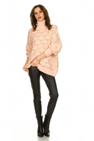 Rabens Saloner |  Oversized  sweater Cora | pink  | Picture 3