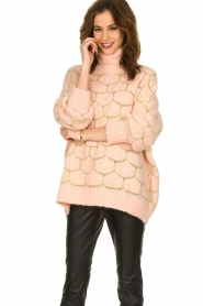 Rabens Saloner |  Oversized  sweater Cora | pink  | Picture 2