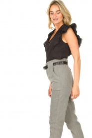Magali Pascal |  Top with ruffles Sumba | black  | Picture 7