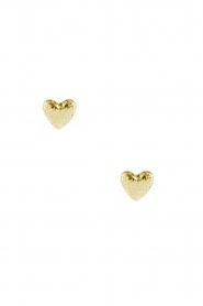 Betty Bogaers | 14k verguld gouden oorbellen Heart | goud  | Afbeelding 2