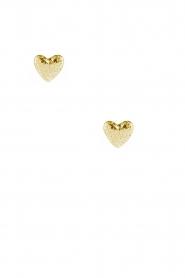 14k plated gold earrings Heart | gold