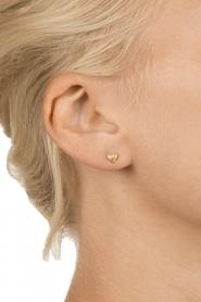 Betty Bogaers | 14k verguld gouden oorbellen Heart | goud  | Afbeelding 3