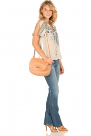 Hale Bob |  Silk lace-up top Lucy | blue  | Picture 3