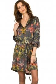 Rabens Saloner |  Tie-dye dress Carli  | green  | Picture 2
