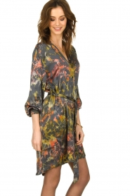 Rabens Saloner |  Tie-dye dress Carli  | green  | Picture 4