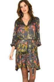 Rabens Saloner |  Tie-dye dress Carli  | green  | Picture 5