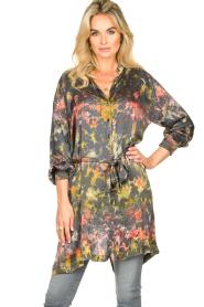 Rabens Saloner   Tie-dye jurk Carli   green     Afbeelding 2