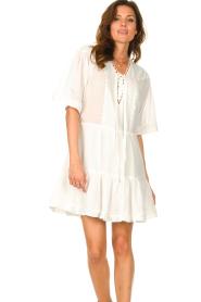 Magali Pascal |  Cotton dress Celeste | white  | Picture 5