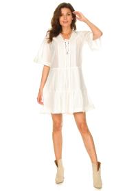 Magali Pascal |  Cotton dress Celeste | white  | Picture 3