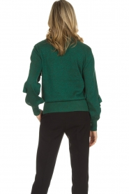 Munthe |  Sweater with ruffles Nailah | green   | Picture 5