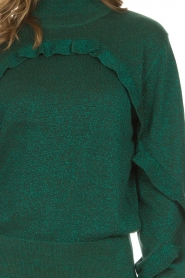 Munthe |  Sweater with ruffles Nailah | green   | Picture 6