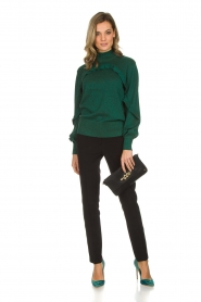 Munthe |  Sweater with ruffles Nailah | green   | Picture 3