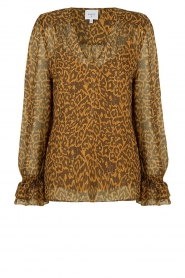 Dante 6 |  Blouse with panther print Sallyn | brown  | Picture 1