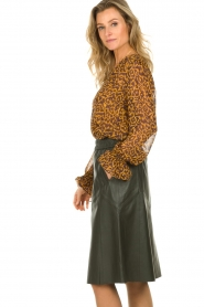 Dante 6 |  Blouse with panther print Sallyn | brown  | Picture 4