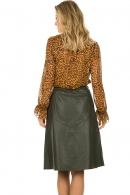 Dante 6 |  Blouse with panther print Sallyn | brown  | Picture 5