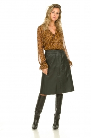 Dante 6 |  Blouse with panther print Sallyn | brown  | Picture 3
