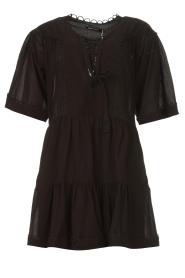 Magali Pascal |  Cotton dress Celeste | black  | Picture 1