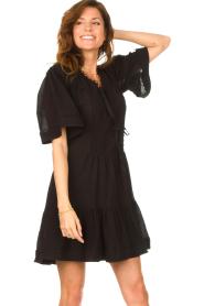 Magali Pascal |  Cotton dress Celeste | black  | Picture 2