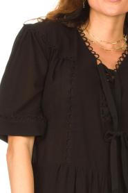 Magali Pascal |  Cotton dress Celeste | black  | Picture 8