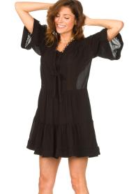 Magali Pascal |  Cotton dress Celeste | black  | Picture 5