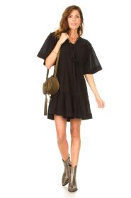 Magali Pascal |  Cotton dress Celeste | black  | Picture 3