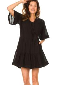 Magali Pascal |  Cotton dress Celeste | black  | Picture 4