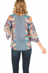 Hale Bob |  Cut-out shoulder top Marielle | blue  | Picture 5