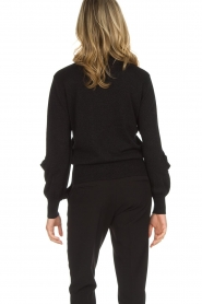 Munthe |  Sweater with ruffles Nailah | black  | Picture 6