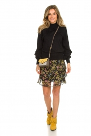 Munthe |  Sweater with ruffles Nailah | black  | Picture 3