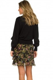 Munthe |  Sweater with ruffles Nailah | black  | Picture 5