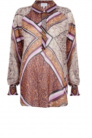 Dante 6 |  Blouse with print Rayner | brown  | Picture 1