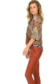 Dante 6 |  Blouse with print Rayner | brown  | Picture 5