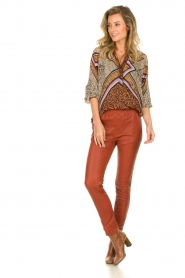 Dante 6 |  Blouse with print Rayner | brown  | Picture 3